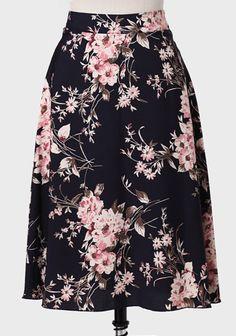 Winter Blossom Printed Skirt at #Ruche @Ruche