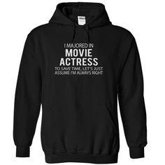 MOVIE ACTRESS Job Title T-Shirts, Hoodies. ADD TO CART ==► https://www.sunfrog.com/LifeStyle/MOVIE-ACTRESS--JobTitle-7305-Black-5990114-Hoodie.html?id=41382