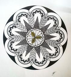 Gallerymak.com - 3.300 TL / 1.075 USD  Mandala - 2 by Meltem Kurtuldu - Bristol üzerine Keçeli Kalem / Marker on Bristol - 65x65  #gallerymak #mandala #çizim #drawing #pattern #desen #contemporary #felsefe #spiritual #artlovers