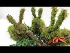Gartendeko Winter ❁ Hase aus Moos selber machen ❁ Deko Ideen mit Flora-Shop - YouTube