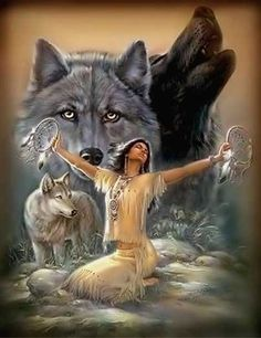 Shared wolf photos and graphics.