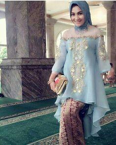 Kebaya Hijab, Batik Kebaya, Kebaya Dress, Dress Pesta, Kebaya Muslim, Batik Dress, Batik Muslim, Muslim Gown, Modern Kebaya
