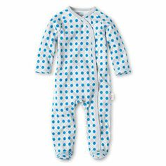 giggleBABY™ Blue Dot Footed Coveralls @JCPenney #newborn #baby #adorable
