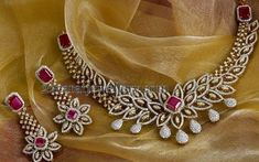 Jewellery Designs: Enchanting Diamond Choker by PNG