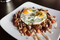 Duck Chorizo Hash. http://www.thepubatch.com/ #food #yummy #egg #hashbrowns #duck #gastropub #pubfood #delicious