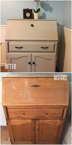 Check out this #DIY #FleaMarket flip of an old dresser makeover #HomeDecorIdeas #RusticDecor @istandarddesign