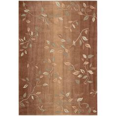 Nourison Contours Cinnamon 7 ft. 3 in. x 9 ft. 3 in. Area Rug-046055 - The Home Depot