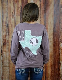 Tarleton State University is home of the awesome Texans! Show your love for TSU in this new long-sleeve Comfort Color t-shirt! Go Texans!