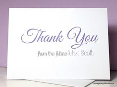 bridal shower engagement thank you note card by designingmoments wedding thank you cards thank you