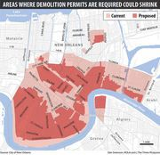 The city of New Orleans is considering an expansionof its historic preservation districts that could roughly double the area subject to strict regulations. But those hoping for stricter standards on demolitions, exterior renovations and new construction face a formidable opponent....