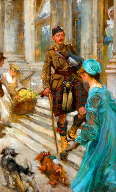 Wounded Officer of the Cameron Highlanders