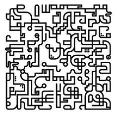 Monovektor - random non-repeating pattern