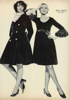 1968 Nina Ricci. 1960s coat and dress