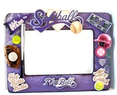 Personalized Picture Frame  Softball Photo Frame  by AuriesDesigns, $26.00