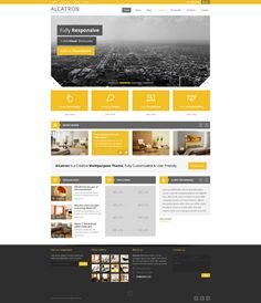 Alcatron WP Theme by WordPress Awards , via Behance