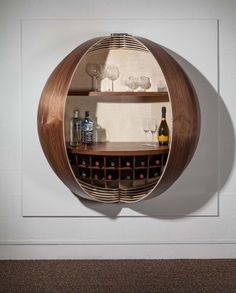 Hemispherical Art Deco Drinks Bar