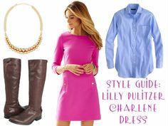 Lilly Pulitzer Charlene Dress style guide.