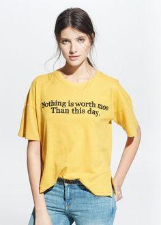 Linen cotton-blend t-shirt | MANGO