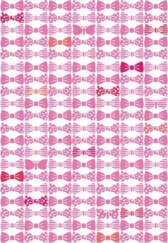 蝶ネクタイ pink |  pattern for 3pondS