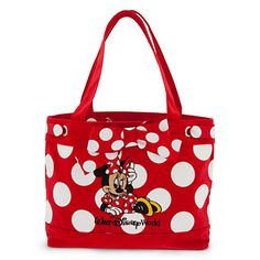 Minnie Mouse Tote - Walt Disney World Disney Tote Bags, Disney Handbags, Disney Purse, Purses And Handbags, Coach Disney, Mickey Mouse And Friends, Minnie Mouse, Polka Dot Purses, Polka Dots