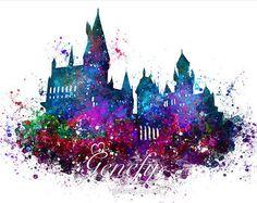 Harry Potter Hogwarts Castle Aquarell Kunst Poster von GenefyPrints - My WordPress Website Fanart Harry Potter, Harry Potter Poster, Dobby Harry Potter, Harry Potter Tumblr, Harry Potter Tattoos, Harry Potter Castle, Harry Potter Painting, Harry Potter Wallpaper, Harry Potter Diy