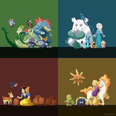 PixelArtus - The Power of Pixel Art • Posts Tagged 'disney princesses as pokemon trainers'
