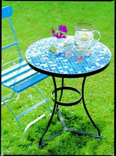 details zu trendline tisch bretagne mosaik rund 60 cm h 72 cm gartentisch beistelltisch. Black Bedroom Furniture Sets. Home Design Ideas