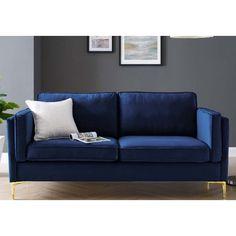 Velvet Furniture, Blue Furniture, Blue Velvet Sofa, Living Room Sofa Design, Apartment Sofa, Beautiful Sofas, Upholstered Sofa, Chair And Ottoman, Love Seat