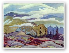 A.J. Casson  Fog Clearing 1929 LOVE this -its in my living room, reminds me of Nipigon area!