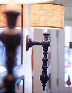 A Dunes and Duchess Single Rachel Sconce in Hudson in Boston.
