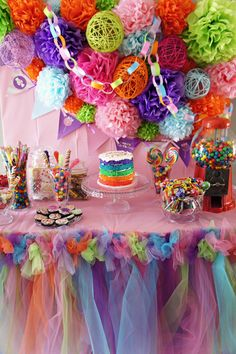 Sweet Shoppe Candy Table - Created by MoshiMoshiMiyu and friends for a little girls first birthday party