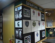 MSU Men's Soccer Team - locker room Spartan Sports, Olympic Sports, Man Cave, Olympics, Lockers, Room, Ideas, Bedroom, Locker