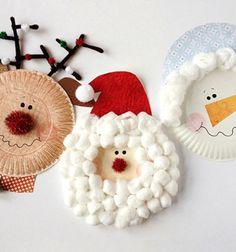 Santa and his friends from paper plates // Mikulás és barátai papírtányérokból // Mindy - craft tutorial collection // #wintercrafts #winterdecors #wintercrafttutorials #diy #DIY #wintercraftideas #diywinterdecors