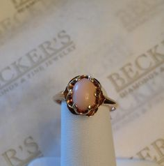 Antique Vintage 10k yellow gold Coral by BeckersJewelersCT on Etsy