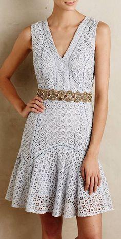 Flounced Lace Dress