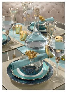 Stylish Home Decor & Chic Furniture At Affordable Prices Elegant Table Settings, Beautiful Table Settings, Table Turquoise, Teal Table, Table Set Up, Table Arrangements, Decoration Table, Dinner Table, Tabletop