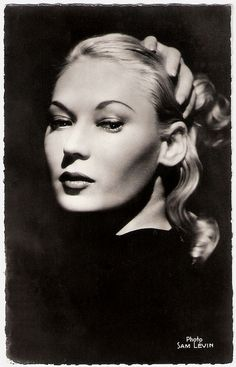 Actress Tilda Thamar (1917 – 1989)  known as the 'Blonde Bombshell from Argentina' 1950's French cinema.