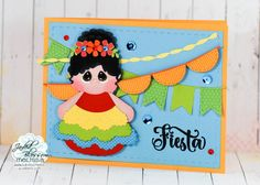 Fiesta! Using my Silhouette  Cameo and Jaded Blossom metal dies and stamps to make a fun card to celebrate Cinco De Mayo!