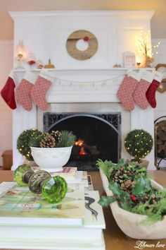 Christmas Living Room - Very Merry Christmas Tour - fireplace and evergreens on the coffee table Very Merry Christmas, Modern Christmas, Christmas Home, Christmas Stuff, Christmas Crafts, Outdoor Christmas Decorations, Holiday Decor, Christmas Living Rooms, Christmas Inspiration