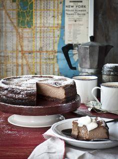 NY style mocha hazelnut cheesecake