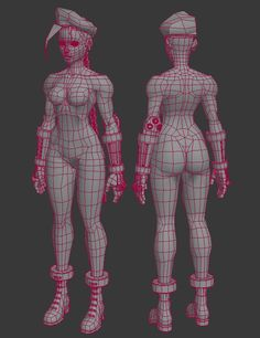 (Get a closer look at the model via p3d.in) Here are two ref sheets I put together: