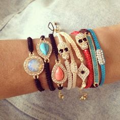 BaubleBar and Man Repeller custom curated arm party