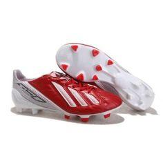 aadaf5f214f Lionel Messi Adidas Adizero F50 TRX Firm Ground cuir Speed Rouge vif Blanc  White Shoes