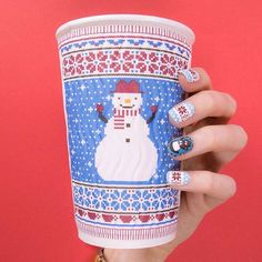 #Goodmorning MoYou lovers!  It's Monday, so let's start the week properly with a nice cosy cup of coffee! ☕ We love what @Costacoffee have done with their cups and it inspired us for this morning's Mani!   Product used: Festive 30 & 45 // Nail polishes: White Knight / Black Knight / Pumpkin / Rusty Red / Cool Pool