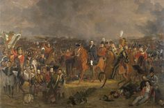 The Battle of Waterloo, Jan Willem Pieneman, 1824 LG:an amazing painting, could have stood there for hours.