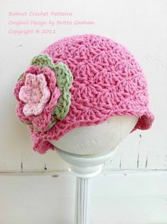 Crochet Hat Pattern  Shell Stitch Cap Crochet por bubnutPatterns