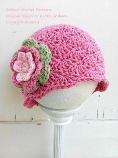 Crochet Hat Pattern  Shell Stitch Cap Crochet por bubnutPatterns