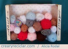3 ideas con huacales para organizar - Crear y Reciclar Ideas Prácticas, Ideas Geniales, Diy, Wood Boxes, Decorated Boxes, Recycling, Organize, Create, Do It Yourself