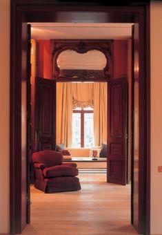 Soothing reds. Axel Vervoordt Interior Design