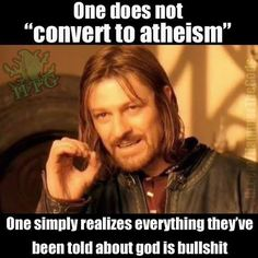 One does not convert to Auntie is them. One simply realize is everything they have been told about God is bullshit. Religion